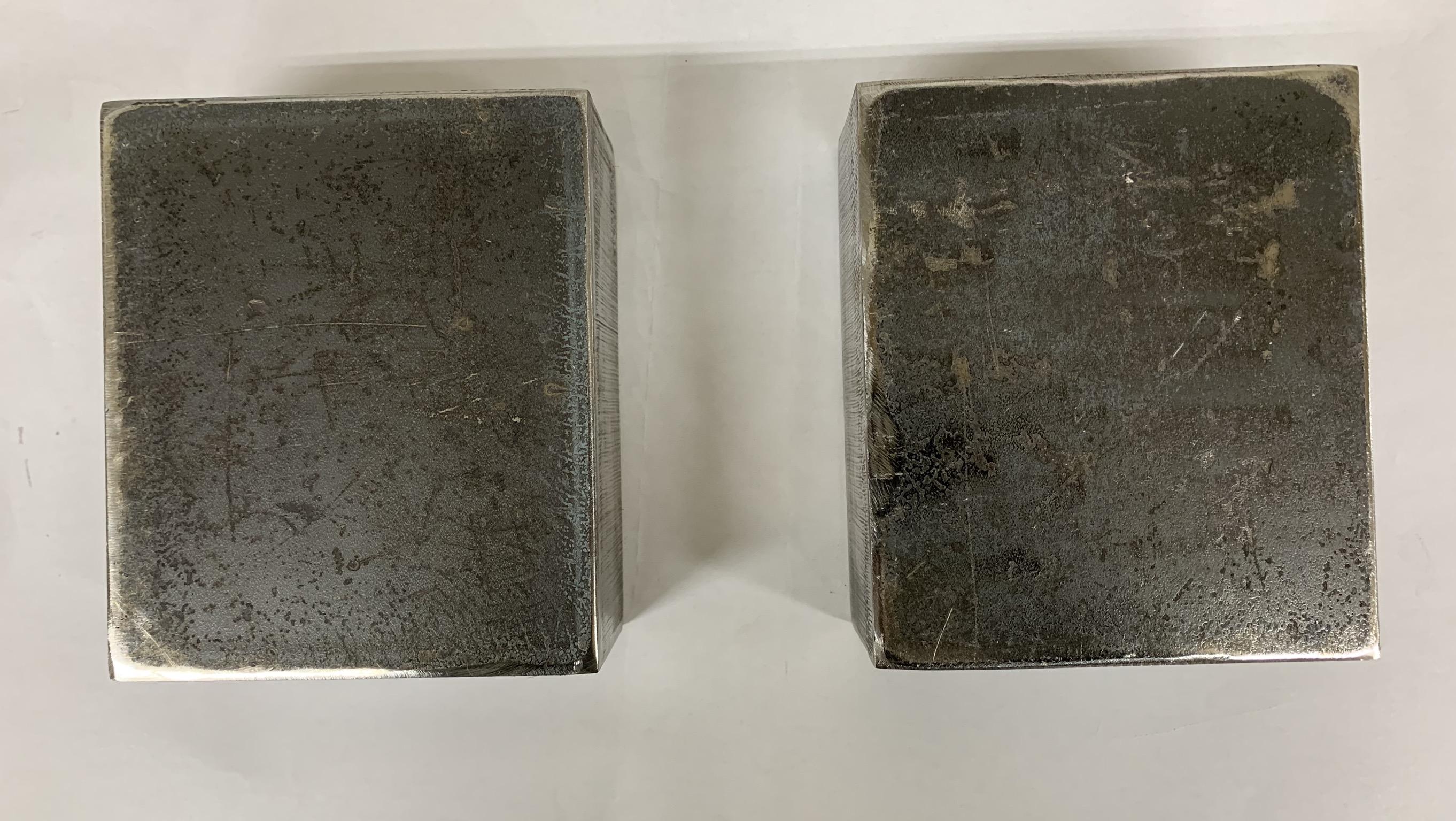 【送料無料】鉄 ブロック11.2cm×13.5cm 厚み60mm 2個セット
